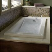 "Green Tea 21"" x 60"" Whirlpool Bath Tub in White"