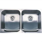 "31.125"" x 18"" Spex Equal Double Bowl Undermount Kitchen SInk"