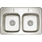 Spex II 22&quot; x 33&quot; Double Bowl Self-Rimming Kitchen Sink