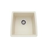 "Performa 17"" x 17.5"" Silgranit II Single Bowl Undermount Bar Sink"