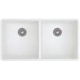 Precis Double Bowl Undermount Kitchen Sink in White