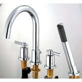 Ulm Double Handle Roman Tub Faucet and Hand Shower