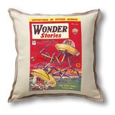Classic Sci-fi Illustration Wonder Stories Pillow Cover - Spore Doom