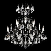 Renaissance Rock Crystal 25 Light Chandelier