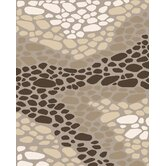 Landscapes River Rocks Beige Rug