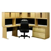 Office Modulars Corner Desk Office Suite with Lateral File