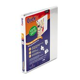 "Quick Fit D-Ring View Binder, 0.5"" Capacity, White"