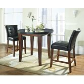 Granite Bello 3 Piece Pub Table Set in Multi-Step Rich Cherry