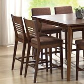 Grada Counter Height Dining Chair in Multi-Step Rich Cherry