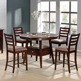Haley 5 Piece Counter Height Dining Set