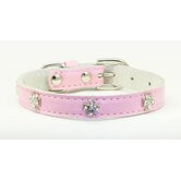 Cross Leather Dog Collar