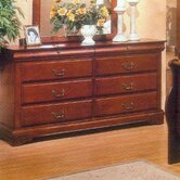 Louis Philippe 8 Drawer Dresser