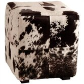 Hugo Patchwork Leather Cube Ottoman