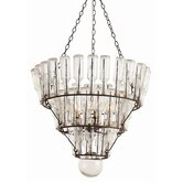 Stedman 5 Light Iron / Glass Chandelier