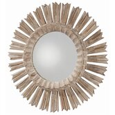 Vendome Hand Carved Solid Wood Starburst Mirror