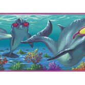 Whimsical Children's Vol. 1 Dolphins Border in Pink