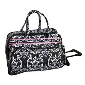 "Damask 20"" 2 Wheeled Carry-On Duffel"