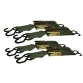 Sportsman 4 Piece Ratchet Tie Down Strap Set