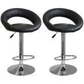 AmeriHome Vinyl Bar Stool (Set of 2)