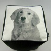 Golden Retriever Cube Ottoman
