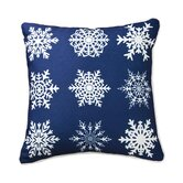 Snowflakes in A Row Pillow