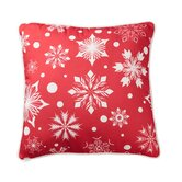 Polka Dot Snowflake Pillow