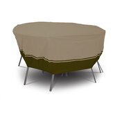 Villa Round Patio Table And Chair Set Cover In Birch and Walnut