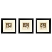 Bath Vintage Bath Framed Painting Print Set