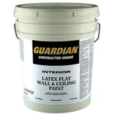 5 Gallons Flat Dover White Contractor Grade Interior Latex Wall &