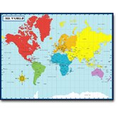 Chartlet Map Of The World 17 X 22