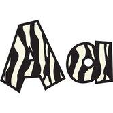 Fun Font Letters Zebra 4in