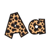 Fun Font Letters Cheetah 4in