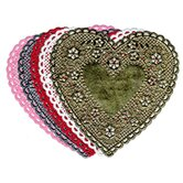 Doilies 6 White Hearts 100/pk