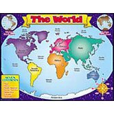 World Map Friendly Chart 17x22