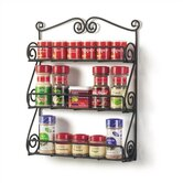 Scroll Spice Rack in Black