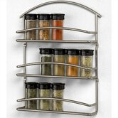 Euro Wall-Mounted Spice Rack in Satin Nickel