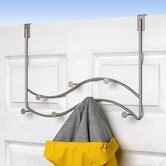 Sweep Over-The-Door 7-Hook Double Rack in Satin Nickel