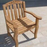 Teakwood Tulip Dining Arm Chair