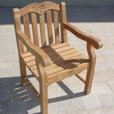 Teakwood Biar Rose Dining Arm Chair