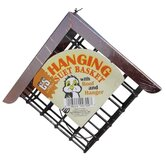 Hanging Suet Basket with Roof