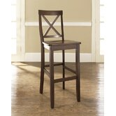 X-Back 30&quot; Barstool in Mahogany