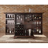 Newport Expandable Bar Cabinet in Vintage Mahogany