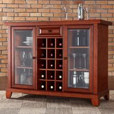 Newport Sliding Top Bar Cabinet in Classic Cherry