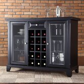 Newport Sliding Top Bar Cabinet in Black