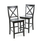 X-Back 24&quot; Barstool in Black