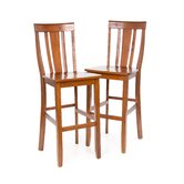Shield Back 30&quot; Barstool in Classic Cherry