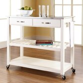 Kitchen Cart with Stainless Steel Top