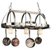 Lighted Hanging Pot Racks