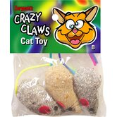 Crazy Claws Mice Catnip Toy