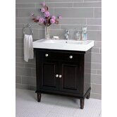 "30"" Single Bathroom Vanity in Dark Brown"